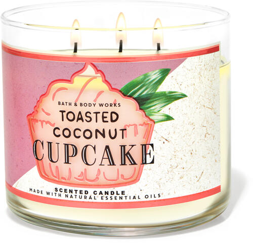 Toasted Coconut Cupcake 3-Wick Candle