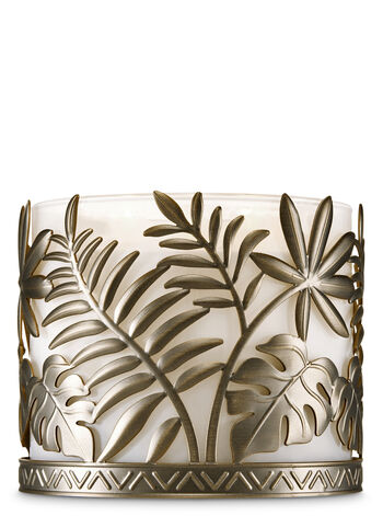 Palm Leaves 3-Wick Candle Holder - Bath And Body Works