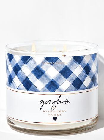 Gingham 3-Wick Candle - Bath And Body Works