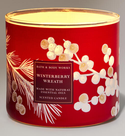 Winterberry Wreath 3-Wick Candle