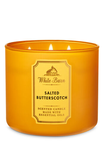 White Barn Salted Butterscotch 3-Wick Candle - Bath And Body Works