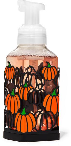 Orange & Black Pumpkins Gentle Foaming Soap Holder