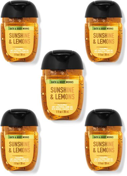 Sunshine & Lemons PocketBac Hand Sanitizers, 5-Pack