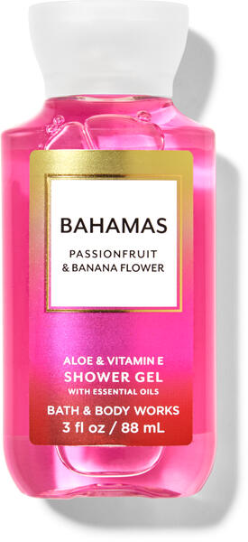 Bahamas Passionfruit & Banana Flower Travel Size Shower Gel