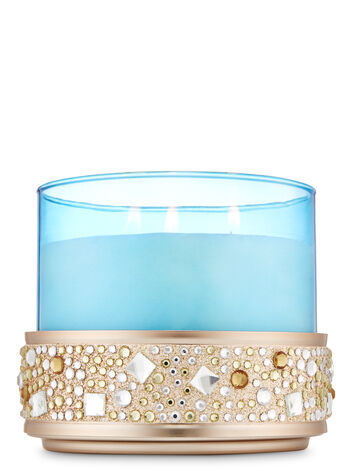 Sparkling Gems 3-Wick Candle Holder - Bath And Body Works