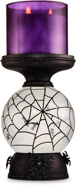Water Globe Bat Pedestal 3-Wick Candle Holder