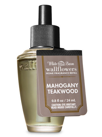 White Barn Mahogany Teakwood Wallflowers Fragrance Refill - Bath And Body Works