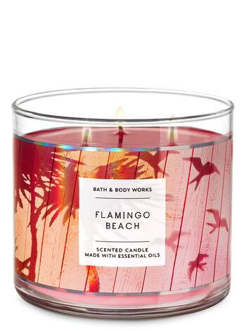 Flamingo Beach 3-Wick Candle - Bath And Body Works