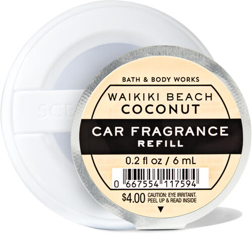Waikiki Beach Coconut Car Fragrance Refill