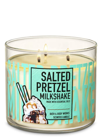 Salted Pretzel Milkshake 3-Wick Candle - Bath And Body Works