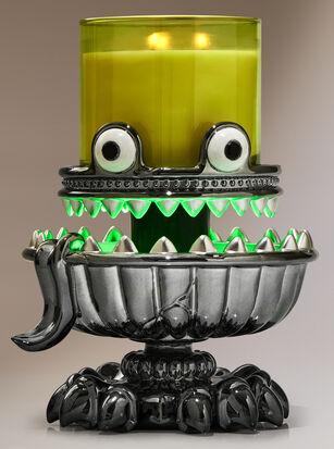Light-Up Monster Pedestal 3-Wick Candle Holder