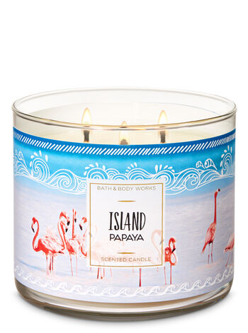 Island Papaya 3-Wick Candle - Bath And Body Works