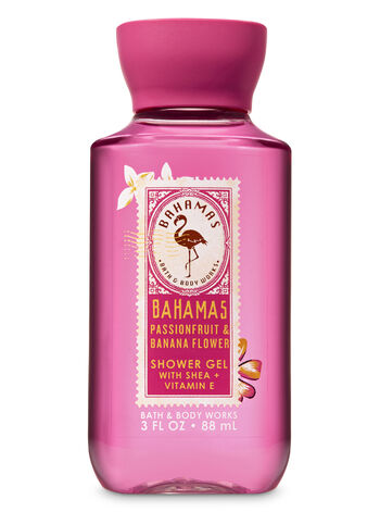 Signature Collection Pink Passionfruit & Banana Flower Travel Size Shower Gel - Bath And Body Works