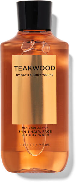 Teakwood 3-in-1 Hair, Face & Body Wash