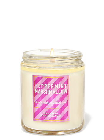 Peppermint Marshmallow Single Wick Candle