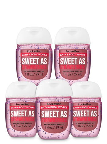 Sweet as Strawberries PocketBac Hand Sanitizers, 5-Pack - Bath And Body Works