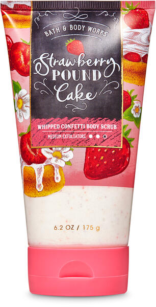 Strawberry Pound Cake Whipped Confetti Body Scrub