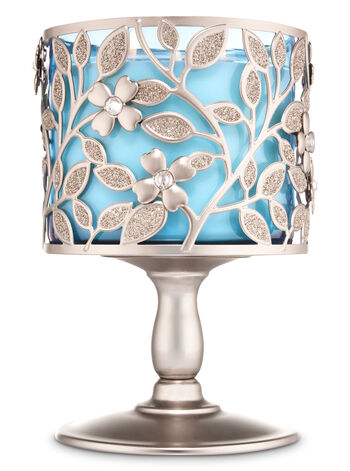 Dogwood Pedestal 3-Wick Candle Holder