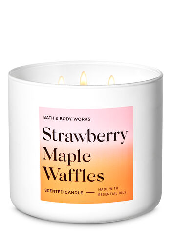 Strawberry Maple Waffles 3-Wick Candle - Bath And Body Works
