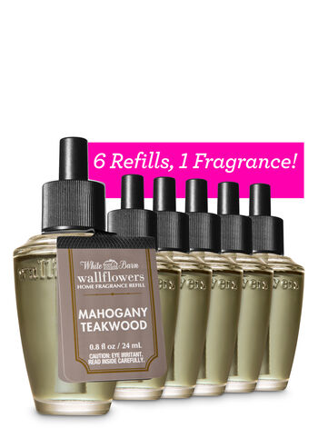 Mahogany Teakwood Wallflowers Refills, 6-Pack