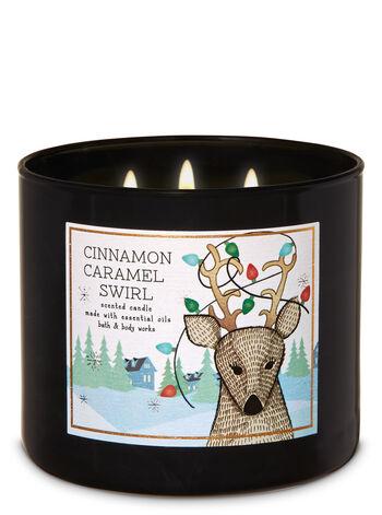 Cinnamon Caramel Swirl 3-Wick Candle - Bath And Body Works