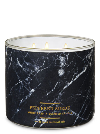 White Barn Peppered Suede 3-Wick Candle - Bath And Body Works