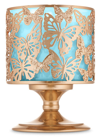 Glittering Butterfly 3-Wick Candle Holder - Bath And Body Works