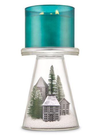 Nordic Village Glass Pedestal 3-Wick Candle Holder - Bath And Body Works