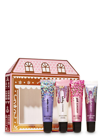 Christmas Sweets Shimmer Lip Gloss Set, 4-Pack