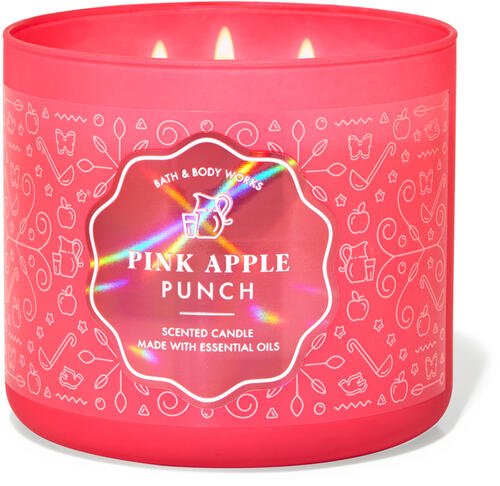 Pink Apple Punch 3-Wick Candle