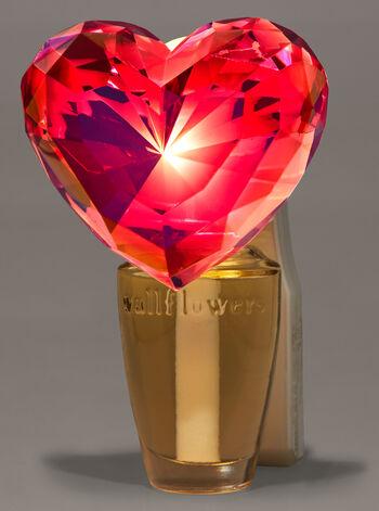 Crystal Heart Nightlight Wallflowers Fragrance Plug