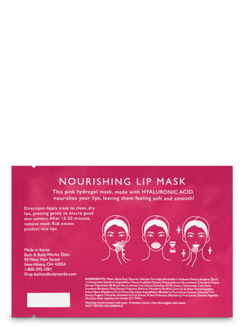 Pink Hydrogel with Hyaluronic Acid Lip Mask