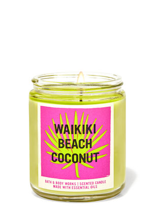 Waikiki Beach Coconut Single Wick Candle