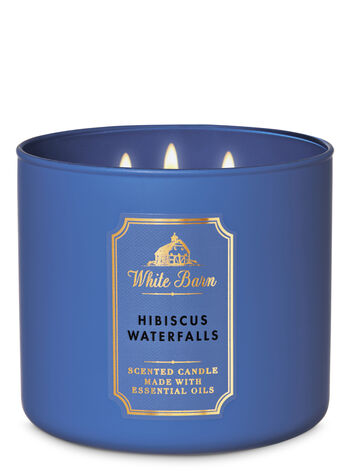 White Barn Hibiscus Waterfalls 3-Wick Candle - Bath And Body Works