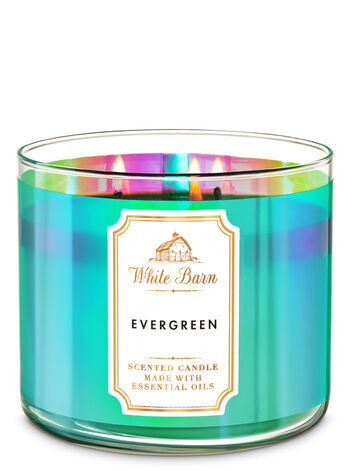 White Barn Evergreen 3-Wick Candle - Bath And Body Works