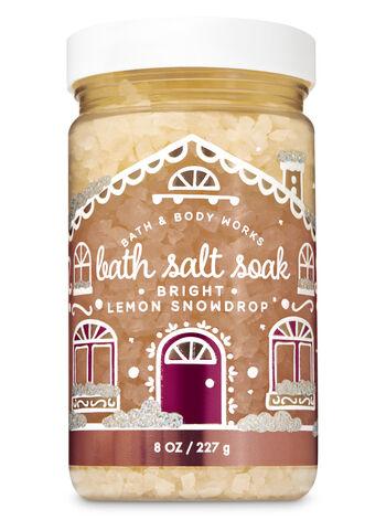 Bright Lemon Snowdrop Bath Salt Soak - Bath And Body Works