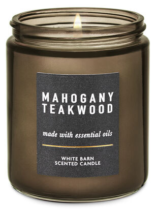 Mahogany Teakwood Single Wick Candle