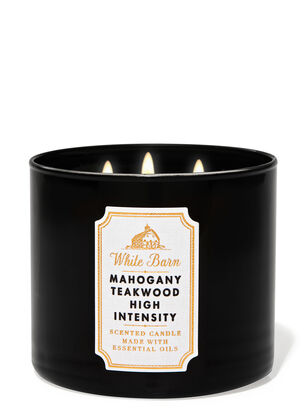 Mahogany Teakwood High Intensity 3-Wick Candle