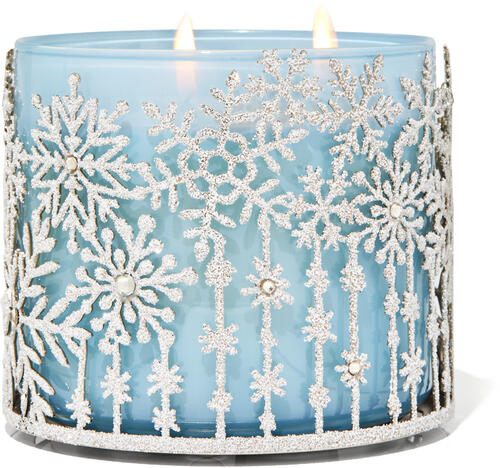 Falling Snow 3-Wick Candle Holder