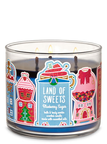 Blueberry Sugar 3-Wick Candle - Bath And Body Works