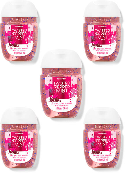Twisted Peppermint PocketBac Hand Sanitizer, 5-Pack