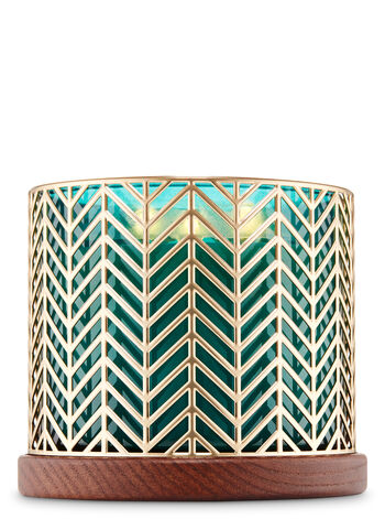 Gold Chevron 3-Wick Candle Holder - Bath And Body Works