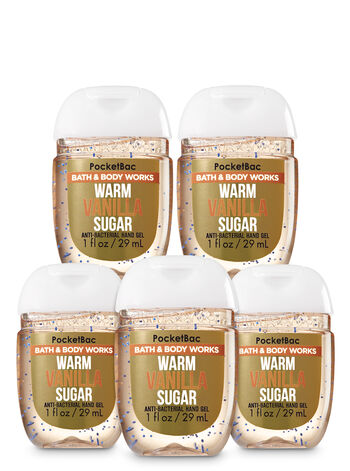 Warm Vanilla Sugar Pocketbac Hand Sanitizer 5-Pack - Bath And Body Works