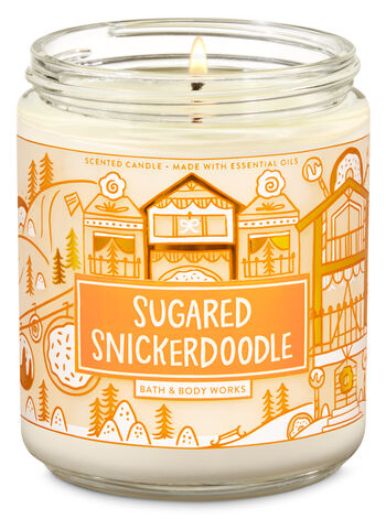 Sugared Snickerdoodle Single Wick Candle - Bath And Body Works