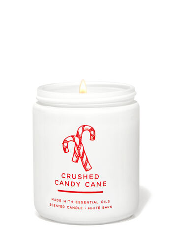 Crushed Candy Cane Single Wick Candle