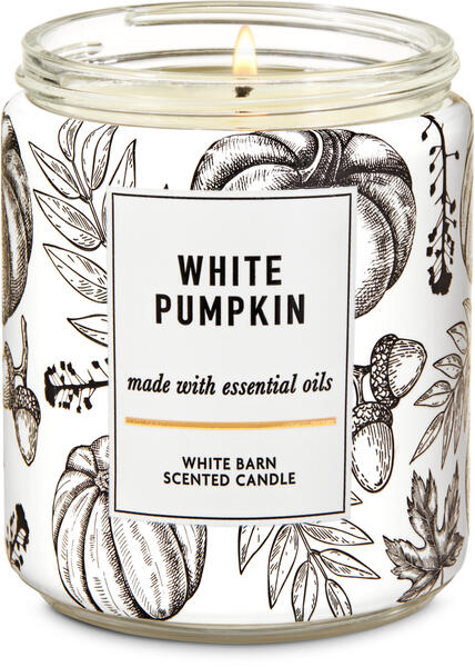 White Pumpkin Single Wick Candle