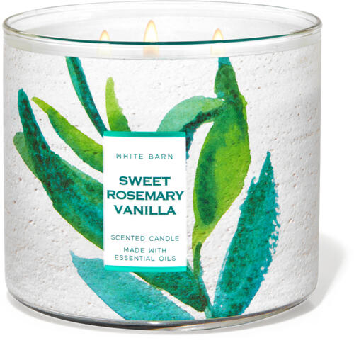 Sweet Rosemary Vanilla 3-Wick Candle