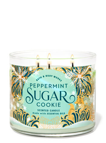 Peppermint Sugar Cookie 3-Wick Candle