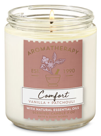 Aromatherapy Vanilla Patchouli Single Wick Candle - Bath And Body Works