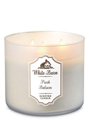 White Barn Fresh Balsam 3-Wick Candle - Bath And Body Works